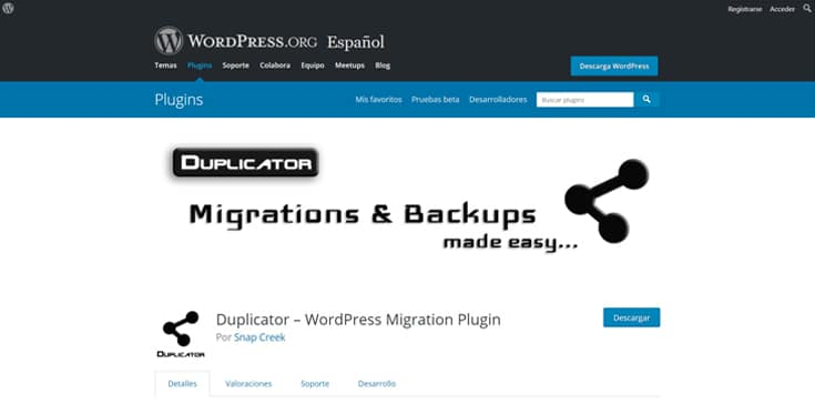 migrar wordpress con duplicator